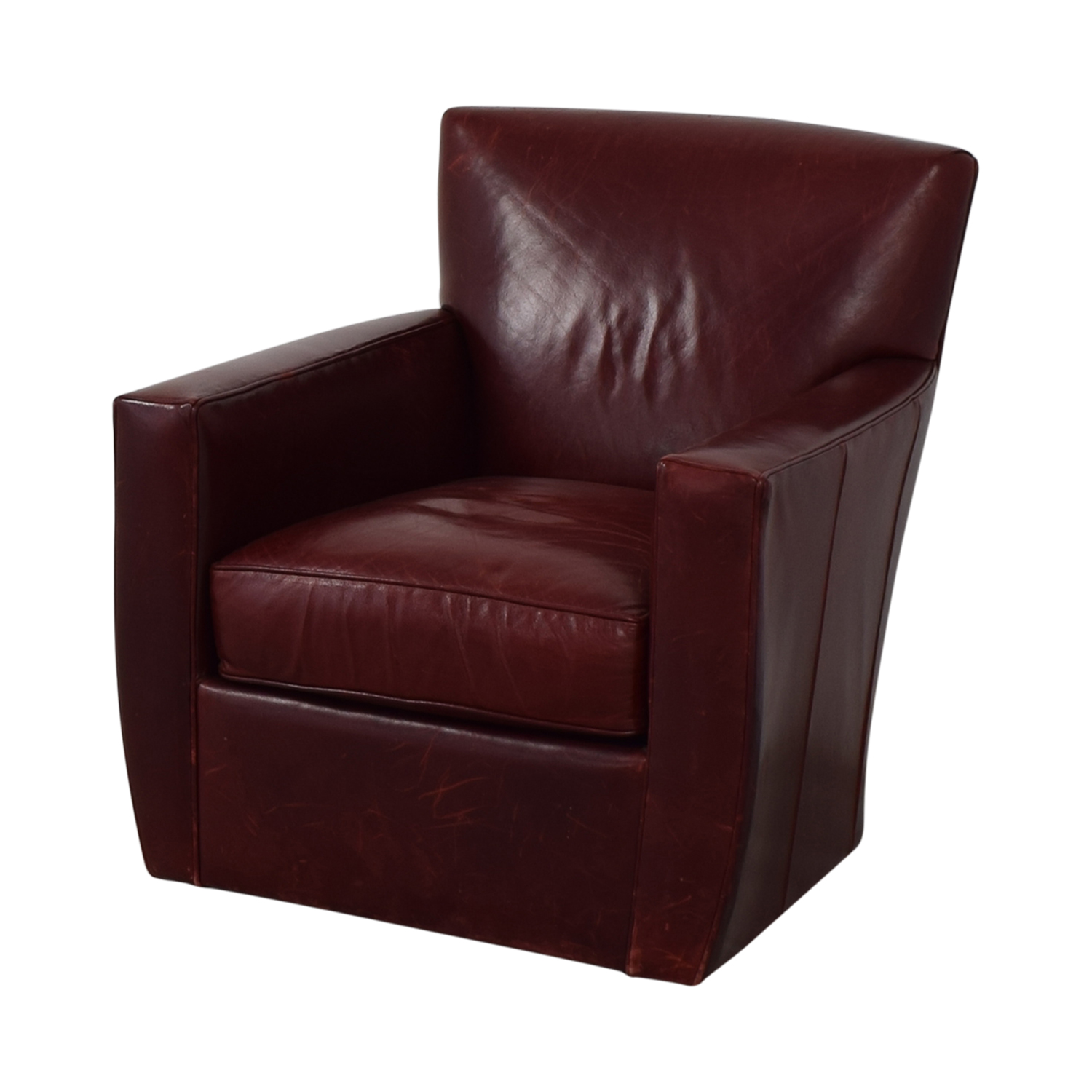 Crate & Barrel Crate & Barrel Swivel Red Accent Chair nyc
