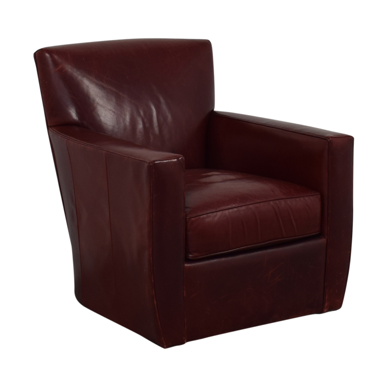 Crate & Barrel Swivel Red Accent Chair / Chairs