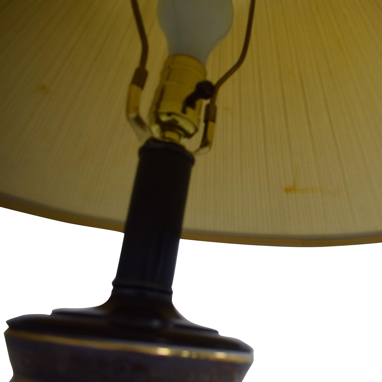 Vintage Floral Painted Lamp