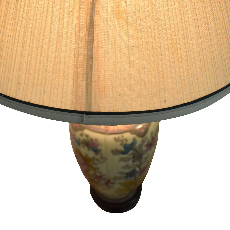buy Vintage Floral Painted Lamp