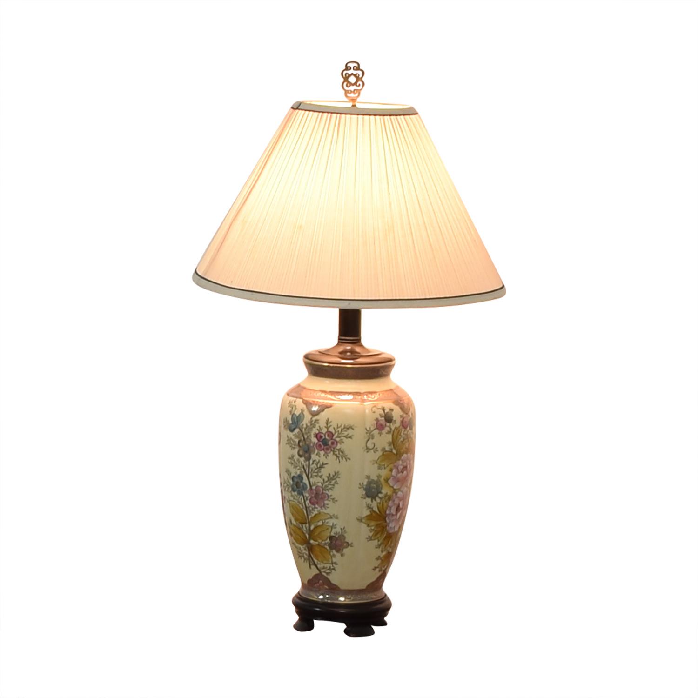 buy  Vintage Floral Painted Lamp online