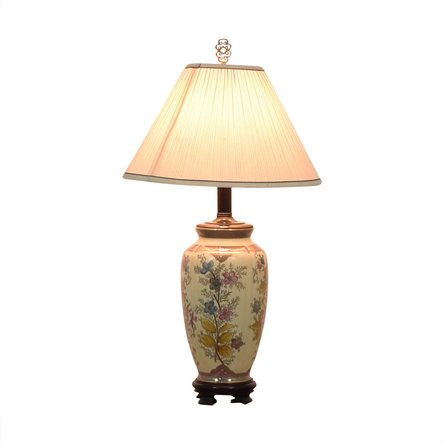 Vintage Floral Painted Lamp coupon