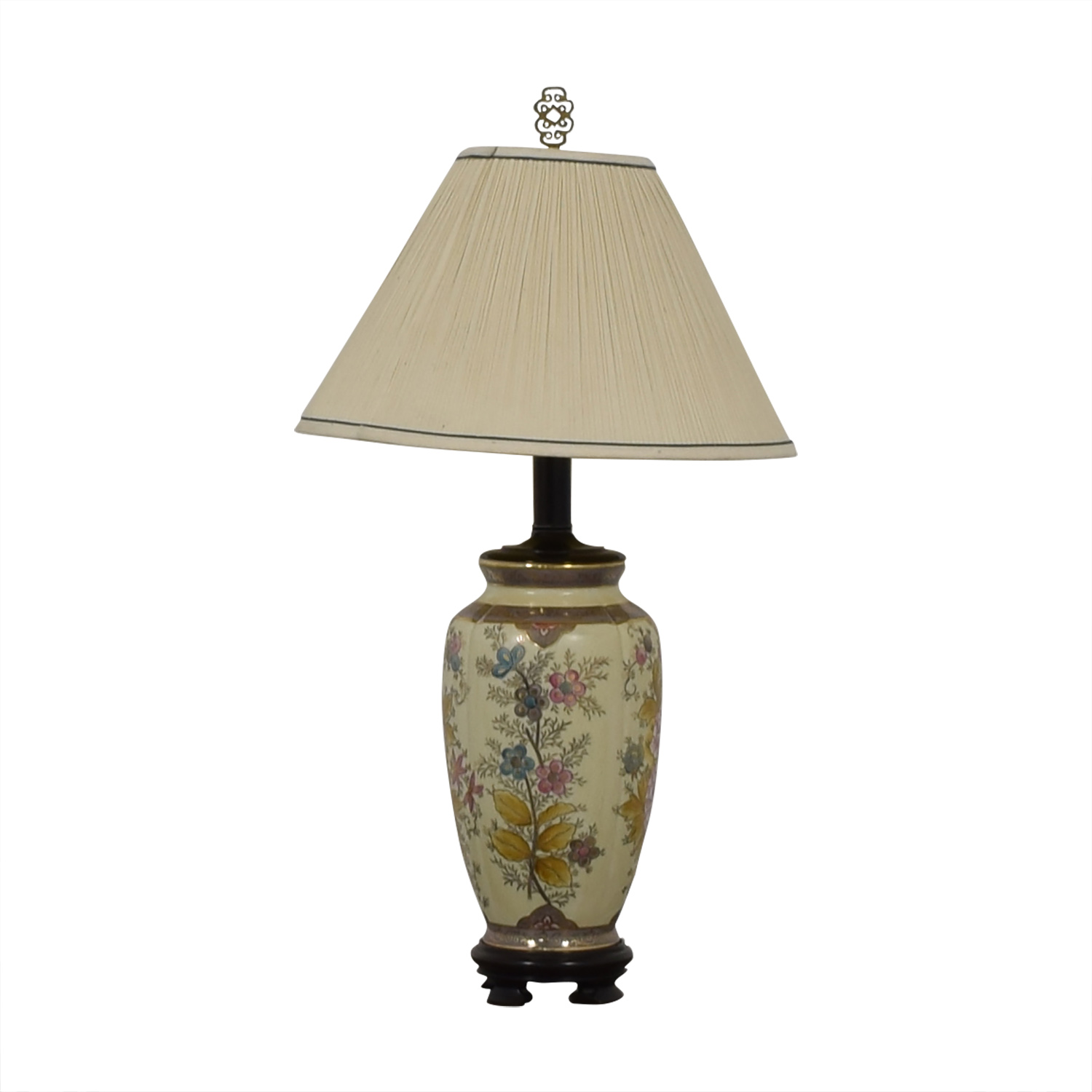 shop Vintage Floral Painted Lamp  Lamps