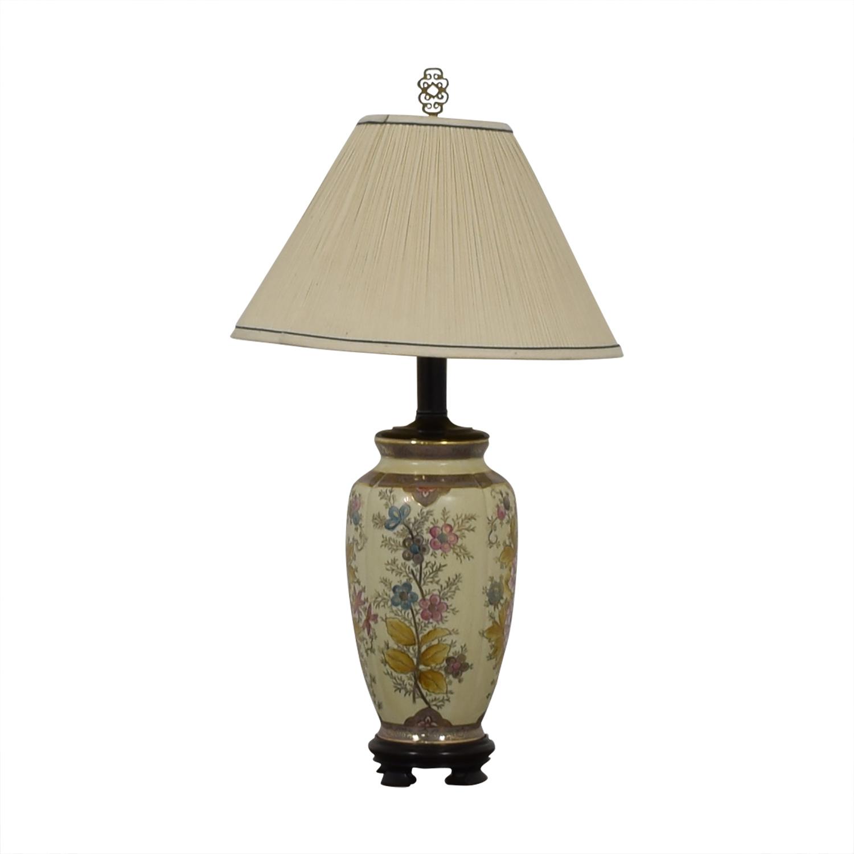 shop Vintage Floral Painted Lamp  Lamps