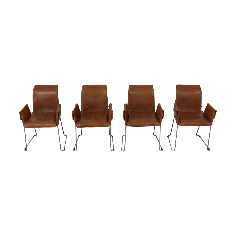 shop Karl-Friedrich Förster Design Mexico Cognac Dining Chairs Karl-Friedrich Förster Design Accent Chairs