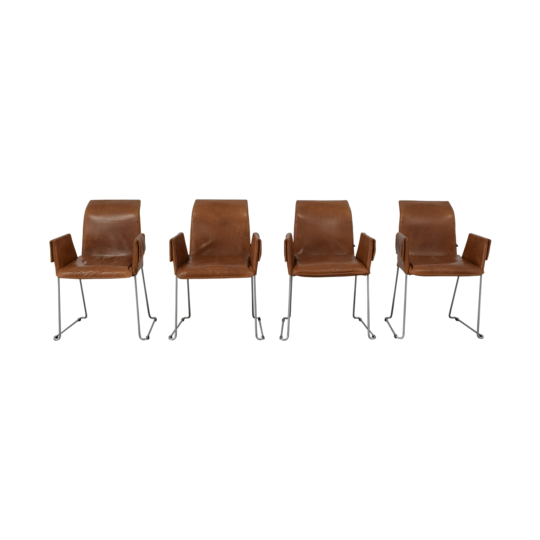 buy Karl-Friedrich Förster Design Mexico Cognac Dining Chairs Karl-Friedrich Förster Design Accent Chairs