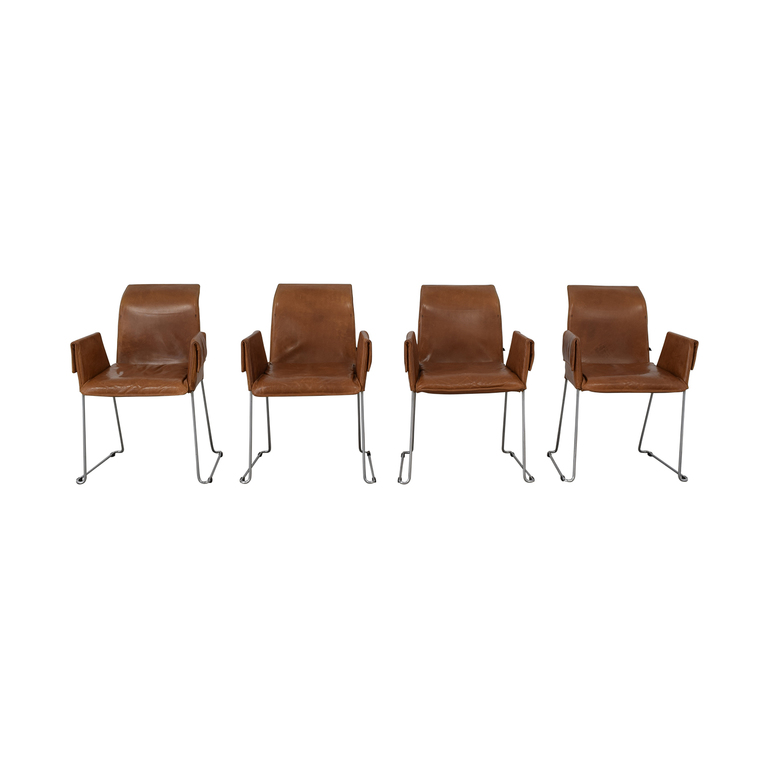 Karl-Friedrich Förster Design Mexico Cognac Dining Chairs / Chairs