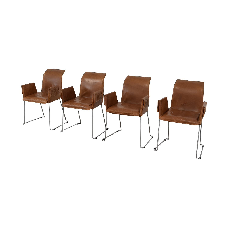 Karl-Friedrich Förster Design Karl-Friedrich Förster Design Mexico Cognac Dining Chairs for sale
