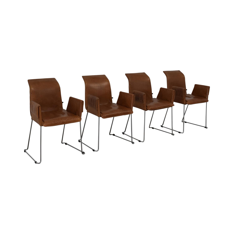 Karl-Friedrich Förster Design Karl-Friedrich Förster Design Mexico Cognac Dining Chairs on sale