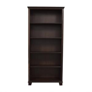 shop Brown Five Shelf Bookcase