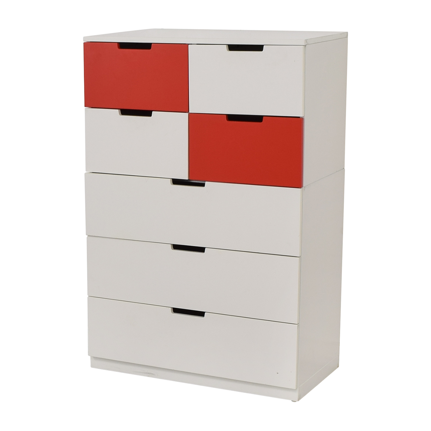 IKEA IKEA White and Red Seven-Drawer Unit dimensions