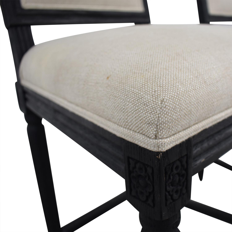 shop Restoration hardware Restoration Hardware Beige Upholstered Black Stools online