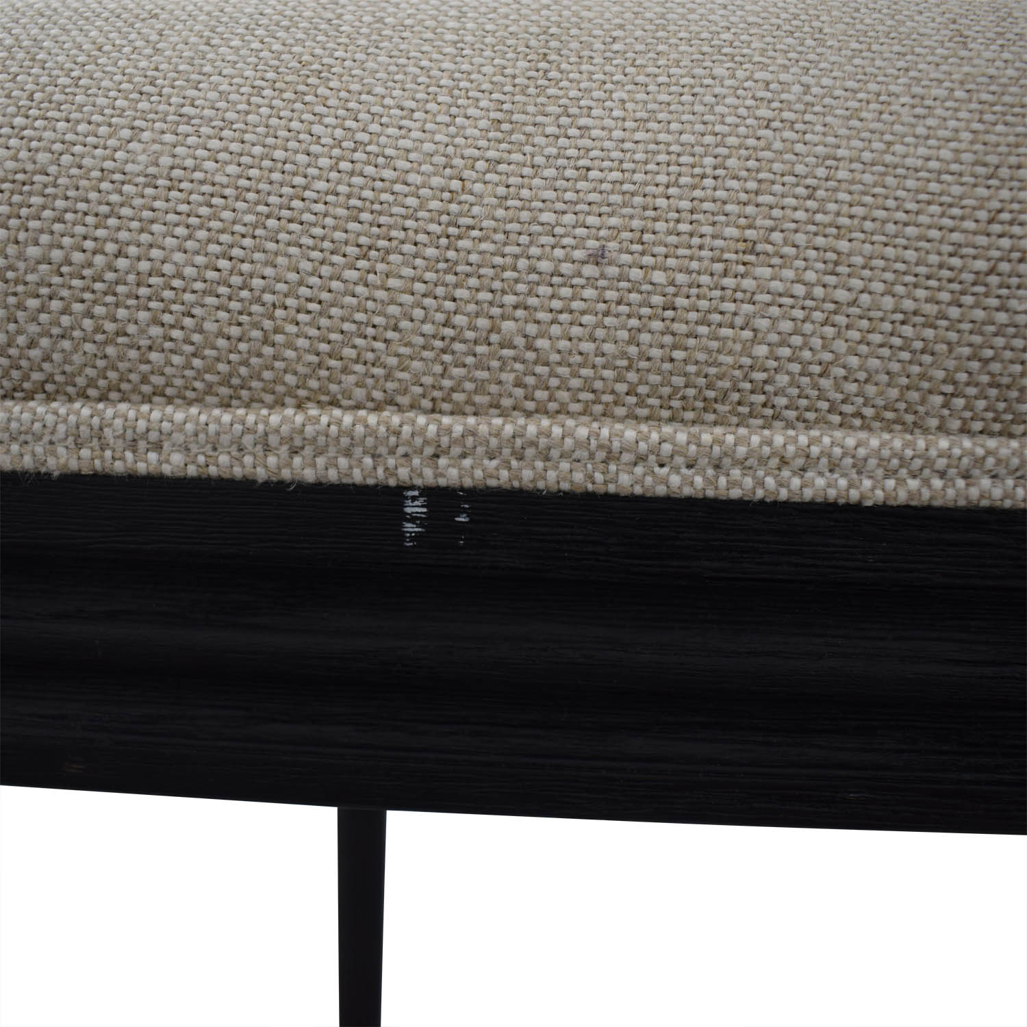 Restoration hardware Restoration Hardware Beige Upholstered Black Stools discount