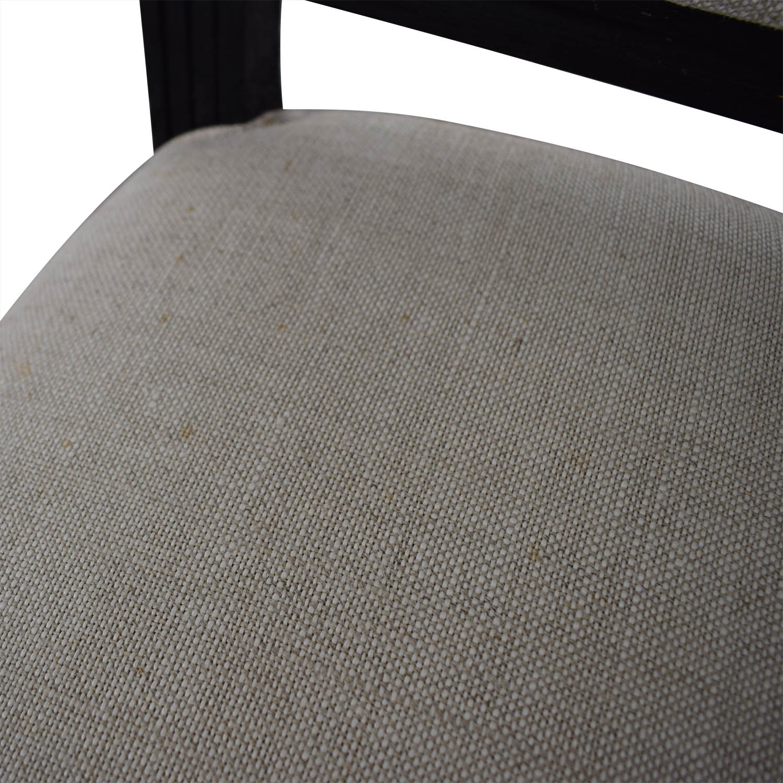 Restoration hardware Restoration Hardware Beige Upholstered Black Stools dimensions