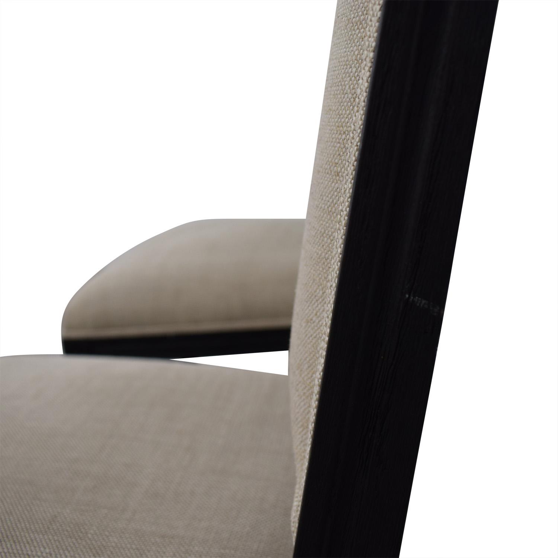 Restoration hardware Restoration Hardware Beige Upholstered Black Stools nyc