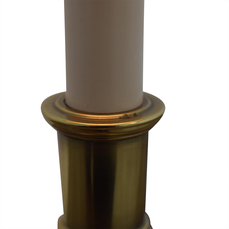 Stiffel Beige And Brass Table Lamp nj