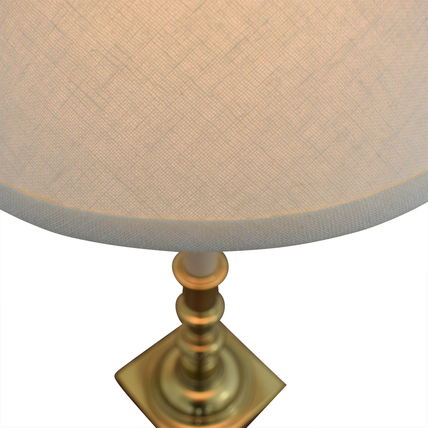 Stiffel Beige And Brass Table Lamp sale