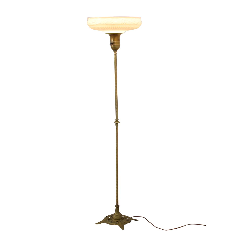 buy Antique Brass Floor Lamp