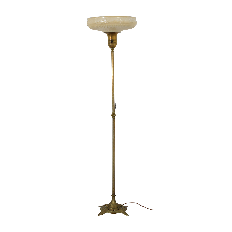 Antique Brass Floor Lamp second hand