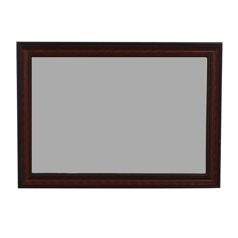 Wood Framed Wall Mirror Decor
