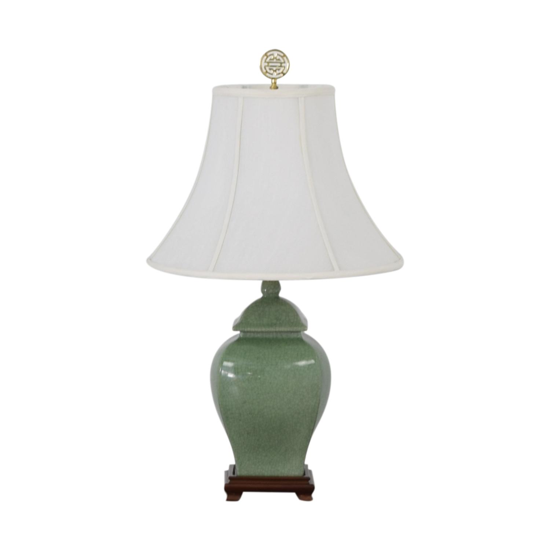Green Ceramic Lamp green