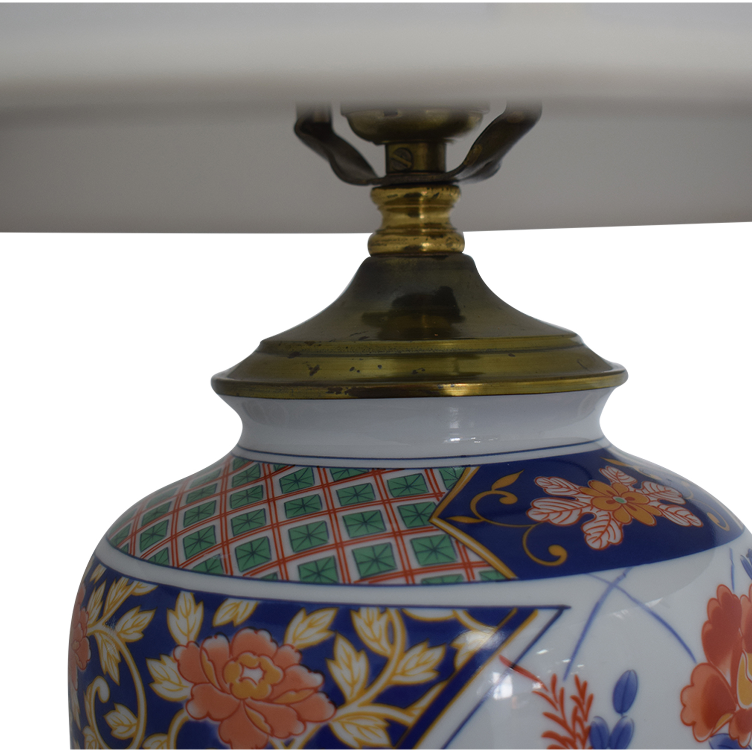 Japanese Imari Porcelain Table Lamp multi color
