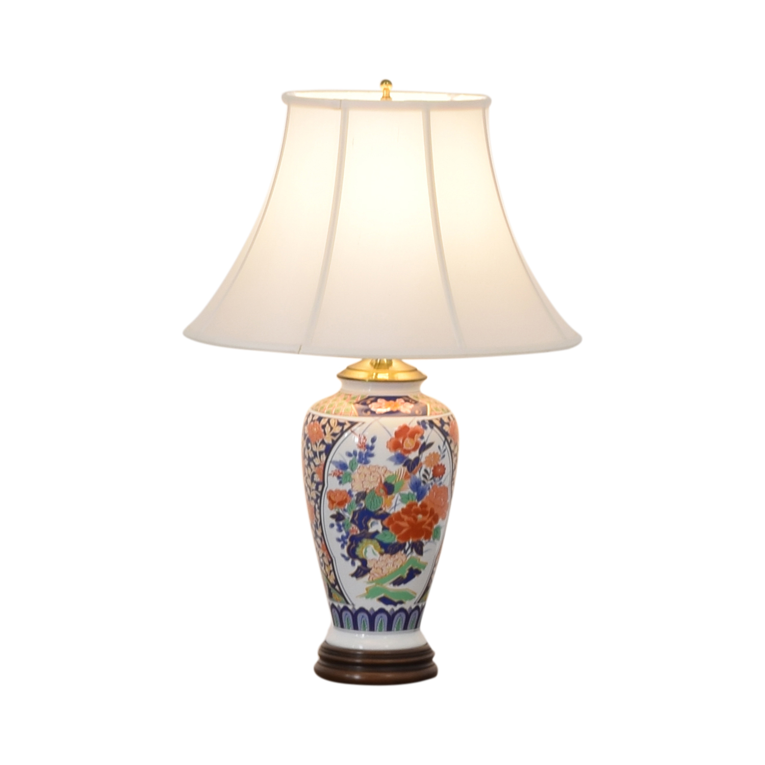Japanese Imari Porcelain Table Lamp coupon