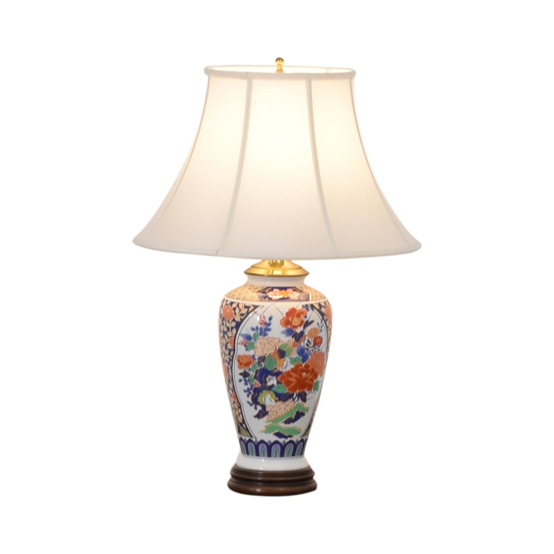 Japanese Imari Porcelain Table Lamp coupon