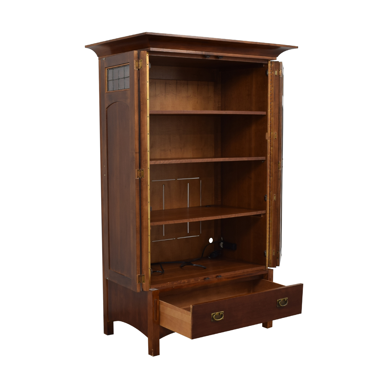 Mission Style Armoire brown