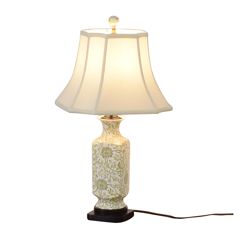 Green & White Ceramic Lamp sale
