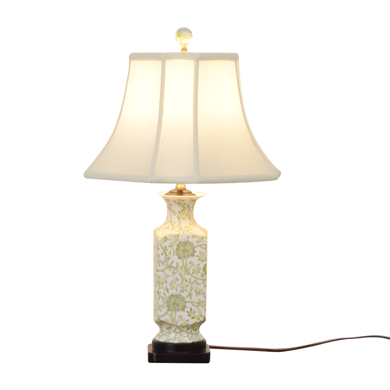 Green & White Ceramic Lamp Lamps