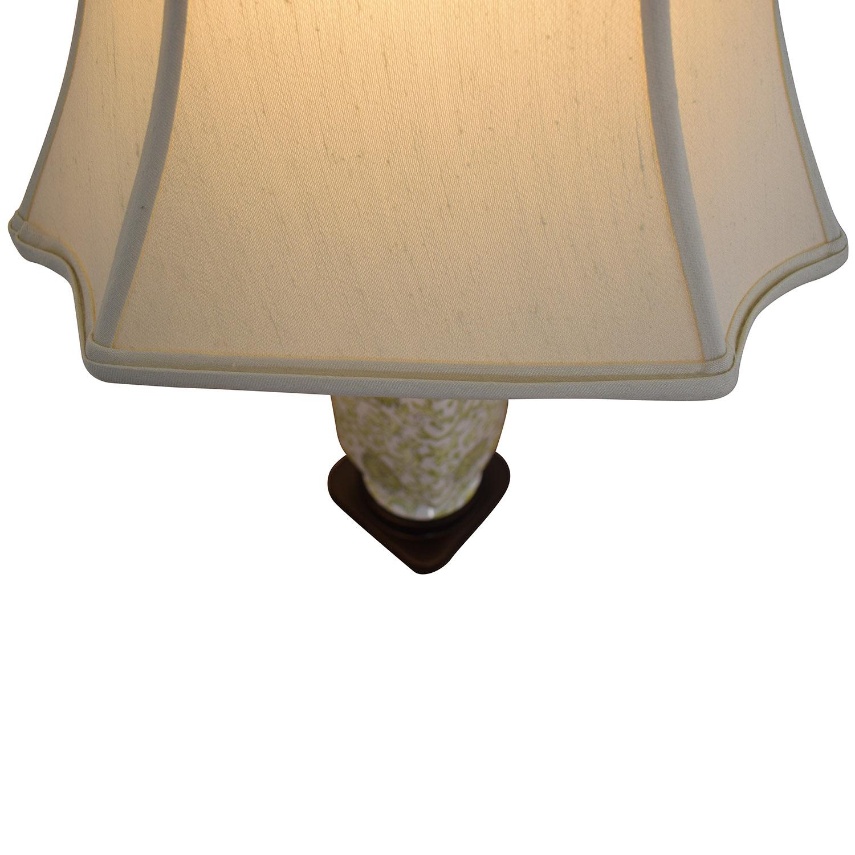 Green & White Ceramic Lamp used