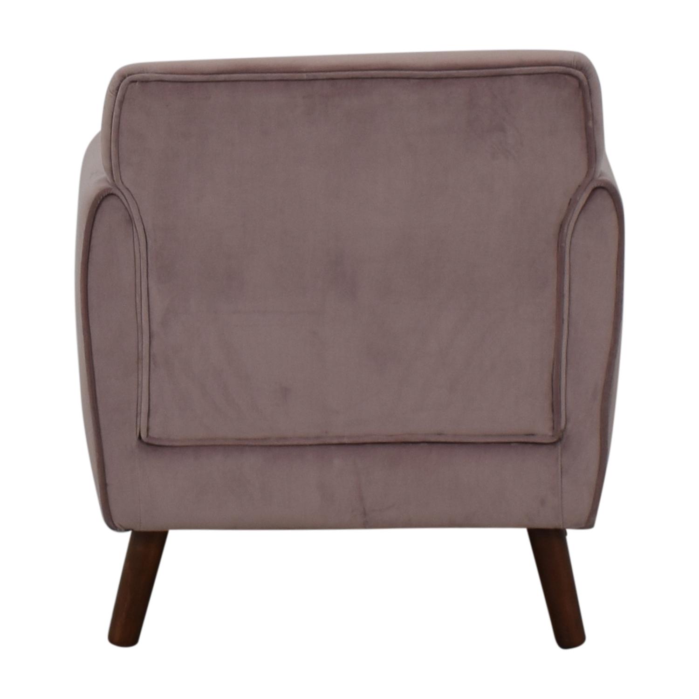 Fine 80 Off Brylane Home Brylane Home Purple Accent Chair Chairs Machost Co Dining Chair Design Ideas Machostcouk