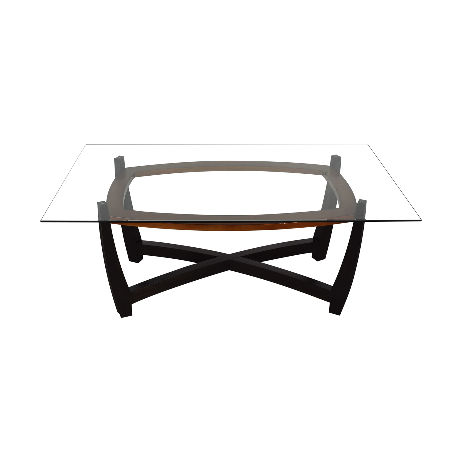 Glass Top Dining Table brown black