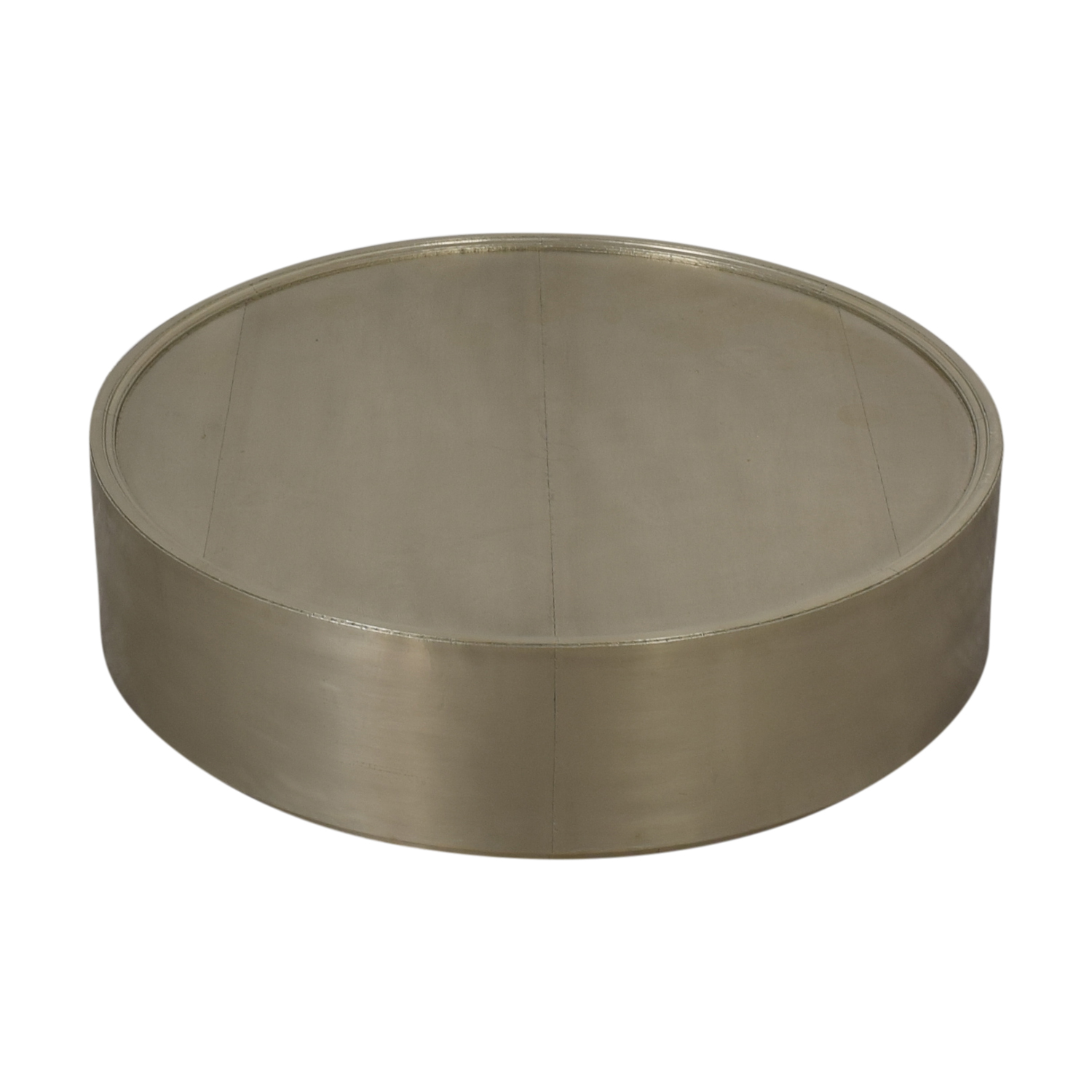 Anthropologie Anthropologie Chrome Round Coffee Table for sale