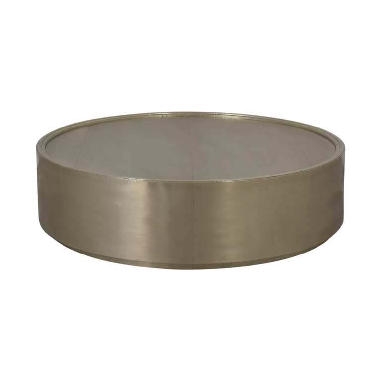 buy Anthropologie Chrome Round Coffee Table Anthropologie Tables