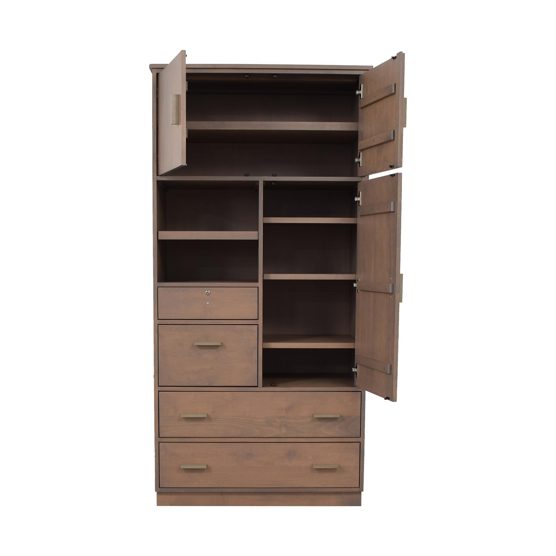 shop Room & Board Linear Custom Modular Storage Armoire Room & Board Storage