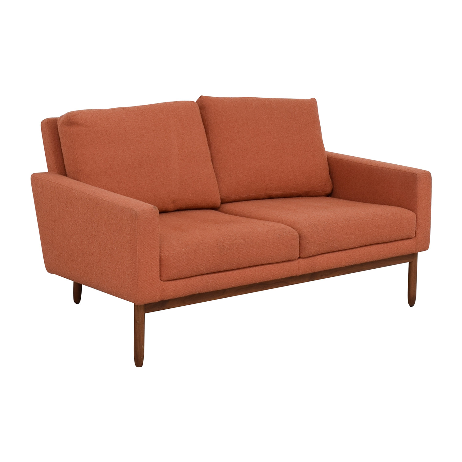 Design Within Reach Design Within Reach Raleigh Paprika Two-Cushion Sofa used