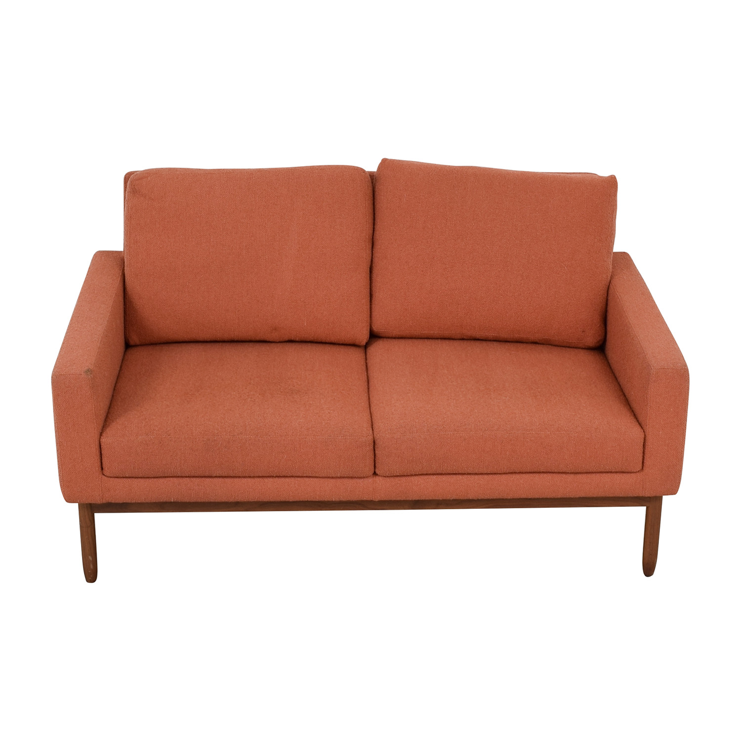 Design Within Reach Design Within Reach Raleigh Paprika Two-Cushion Sofa for sale