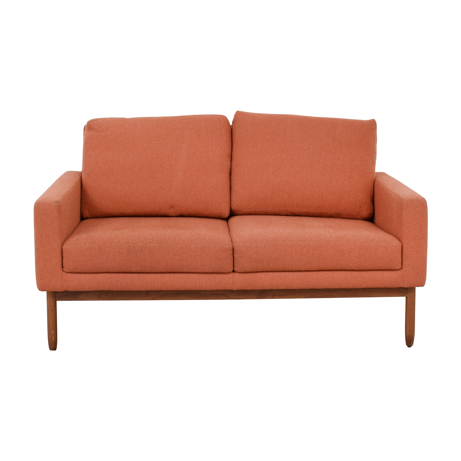 buy Design Within Reach Raleigh Paprika Two-Cushion Sofa Design Within Reach Loveseats
