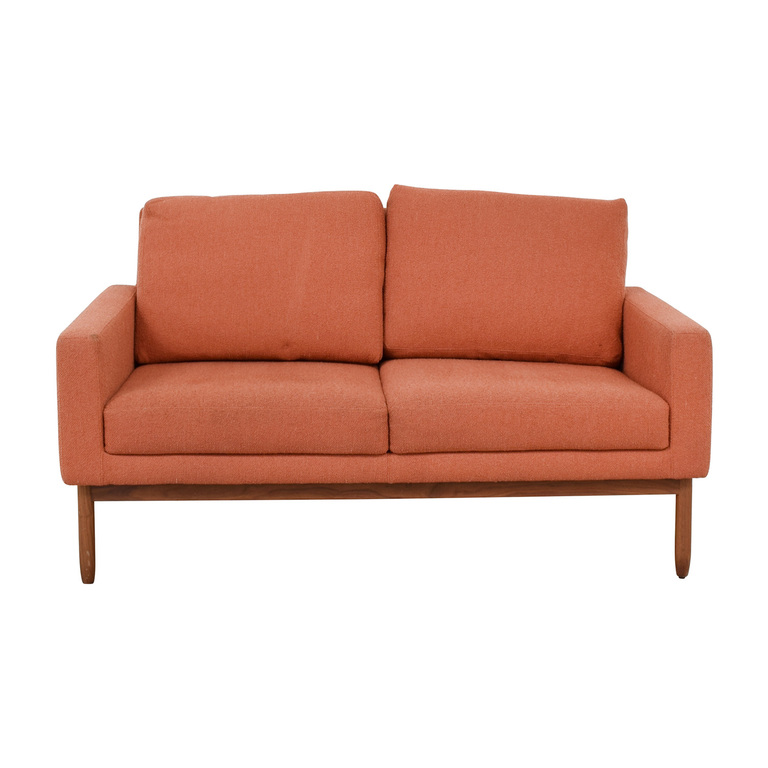 Design Within Reach Design Within Reach Raleigh Paprika Two-Cushion Sofa