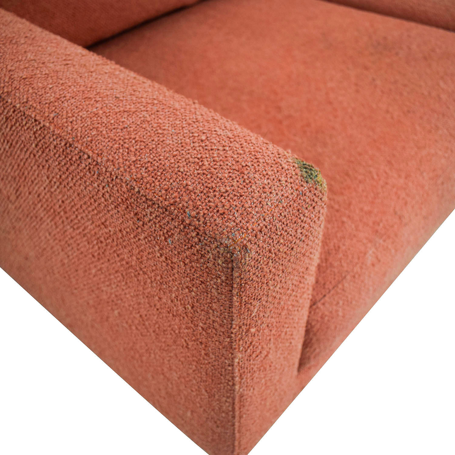Design Within Reach Raleigh Paprika Two-Cushion Sofa Design Within Reach