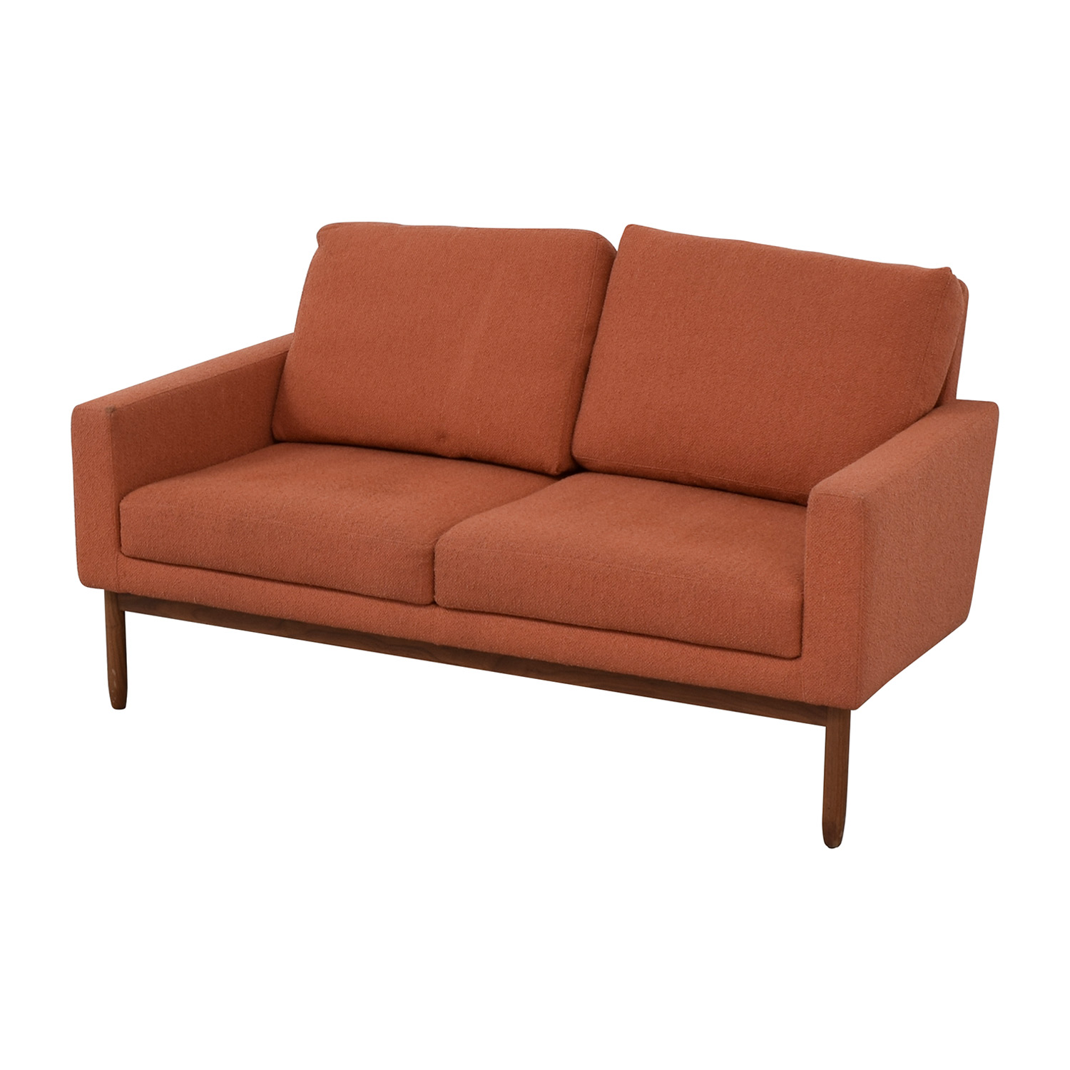 Design Within Reach Design Within Reach Raleigh Paprika Two-Cushion Sofa second hand
