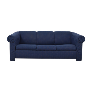 Jennifer Furniture Navy Sofa with Queen Pullout Convertible Jennifer Furniture