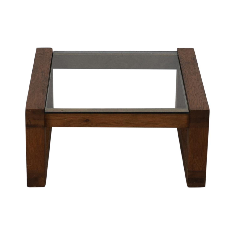 Glass and Wood Coffee Table nyc