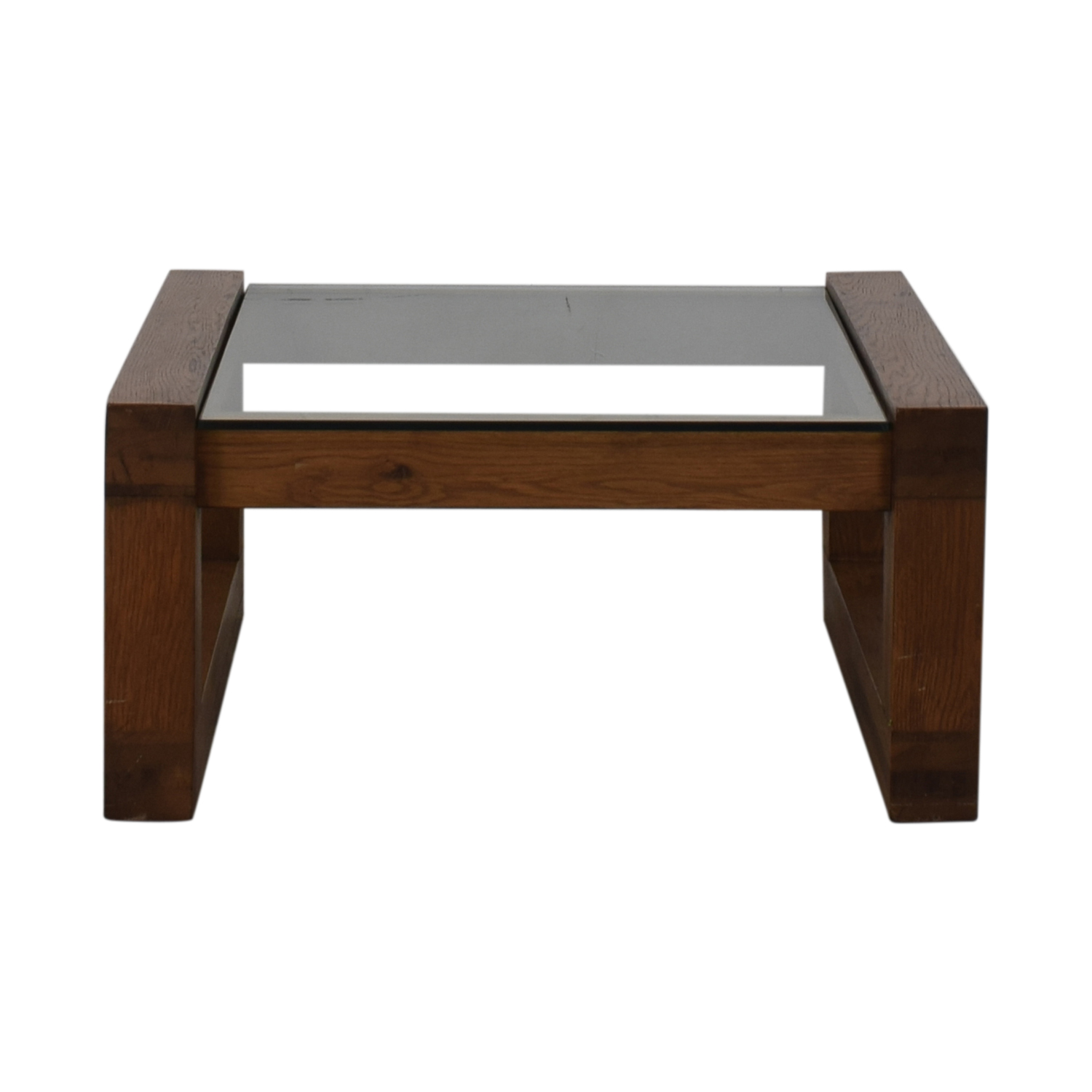 Glass and Wood Coffee Table on sale