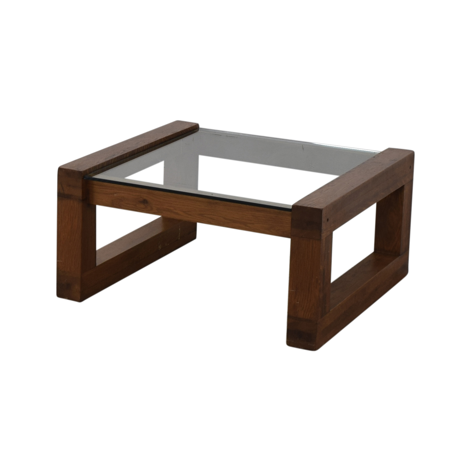 Glass and Wood Coffee Table Coffee Tables
