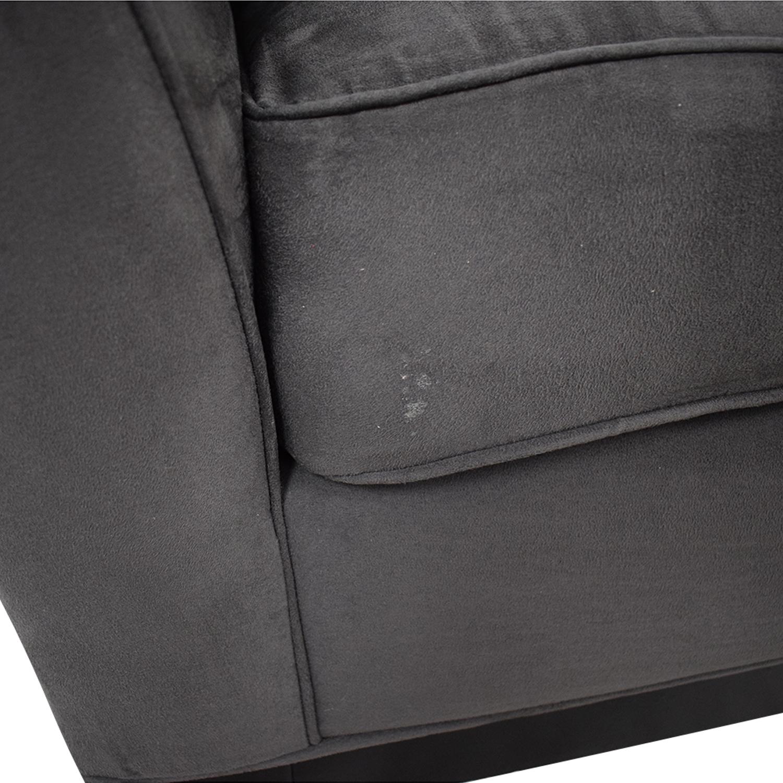 Raymour & Flanigan Raymour & Flanigan Rory Slate Microfiber Sofa dimensions