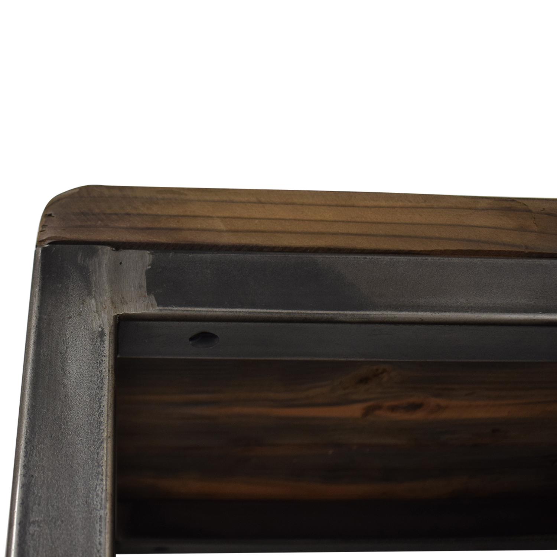 Hudson Goods Hudson Goods Reclaimed Wood Bookshelf industrial metal&wood