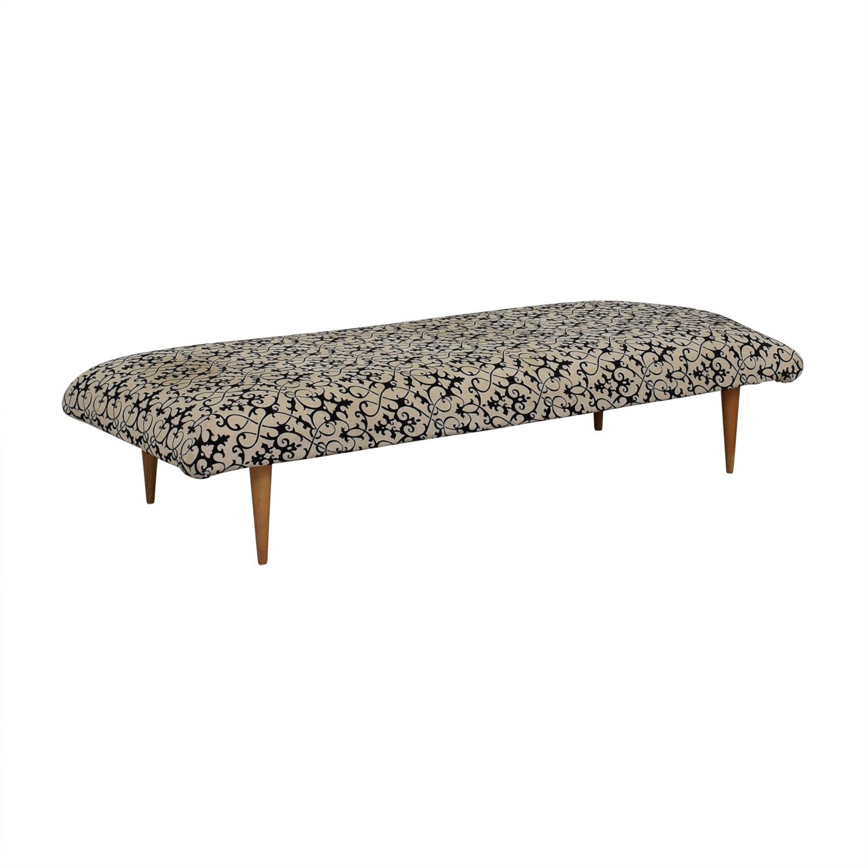shop  Vintage White and Black Upholstered Bench online